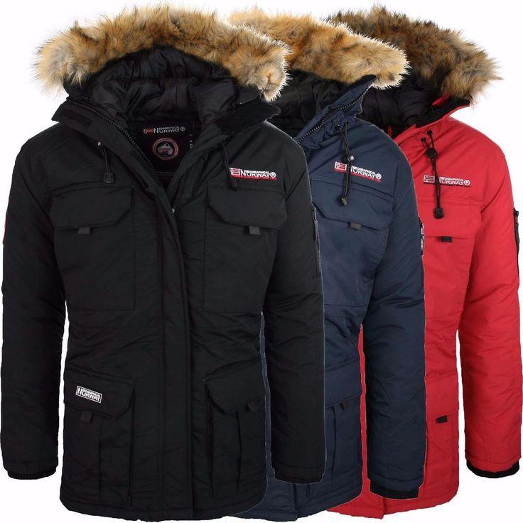 Geographical Norway Baileys Uomo Giubbotto Invernale Parker Parka Men Coat