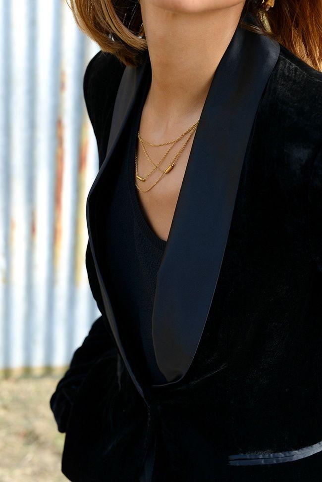 La veste de smoking, toujours aussi chic ! (veste Mango - blog Thepetticoat)