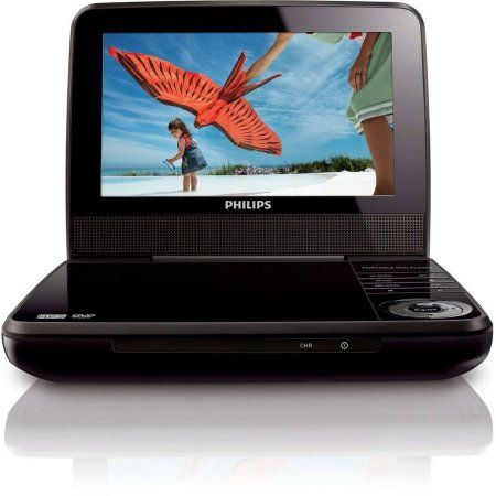 """$30 Walmart. If I can make a dvd for grandma. Philips 7"""" Portable DVD Player (PET741M/37S) Refurbished"""