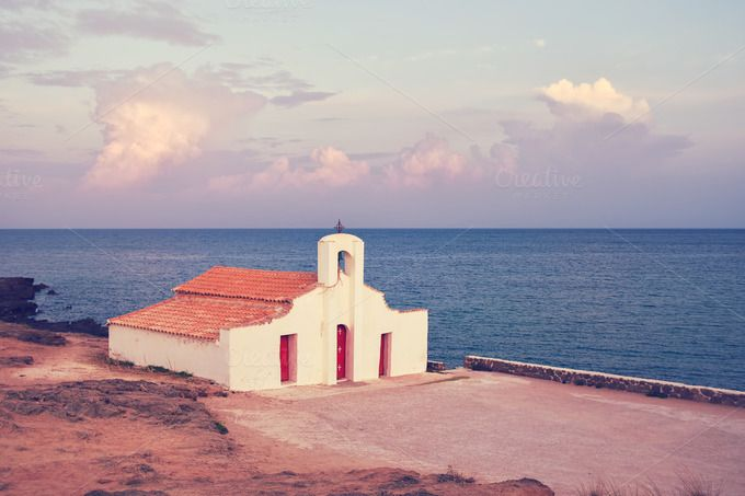 Church on the sea by DreamstaleStock on @creativemarket