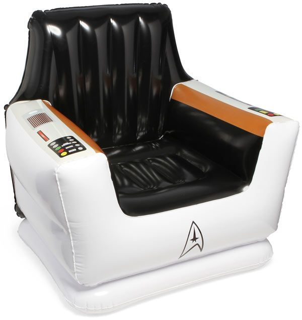 ThinkGeek's Inflatable Captain's Chair is a must-have for Star Trek fans.