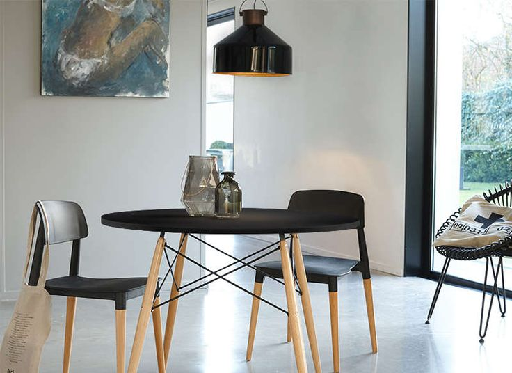 Table ronde scandinave noir kennedy table ronde cuisine - Table ronde cocktail scandinave ...