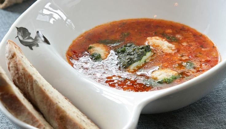 Norwegische Fischsuppe mit Skrei und Wurzelgemüse