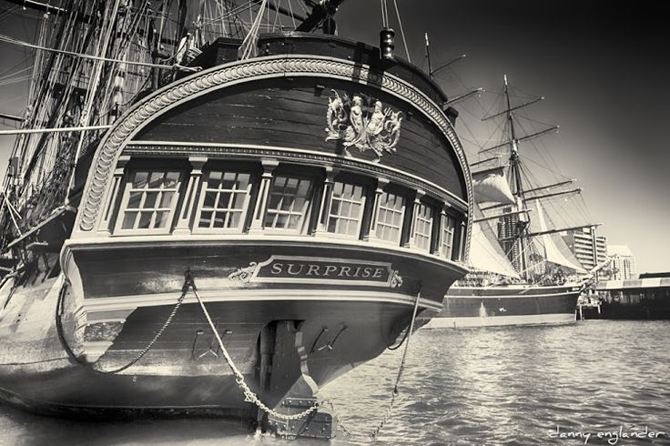 The HMS Surprise, San Diego Harbor. I watch a lot of old movies and I was sort of inspired to tone this image based on some of those old films. This is a virtual #hdr , I used virtual copies to make it from only one original. #blackandwhitephotography #sepia #vintage