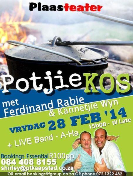 Potjie Kos Day with Ferdinand Rabe & Kannetjie wyn (28 February)   Brackenfell   Gumtree South Africa   109665986