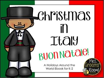 "What would you see in Italy during the holiday season?  See how our friends in Italy celebrate Christmas! This story was created to go along with any ""Holidays Around the World"" Unit.  I use this as a flipchart on my smartboard to help explain the holidays in Italy."