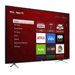 "TCL 55"" 4K 120Hz CMI Roku Smart LED TV - Black (55S405)"