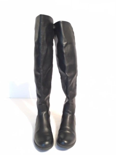a9b3babaf79 UNISA Black Leather Over the Knee Boots Stretch Women s Size 7 M - EUC!