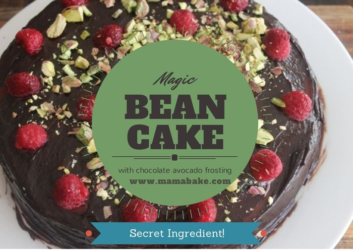 Magic Bean Cake with Chocolate Avocado Frosting!