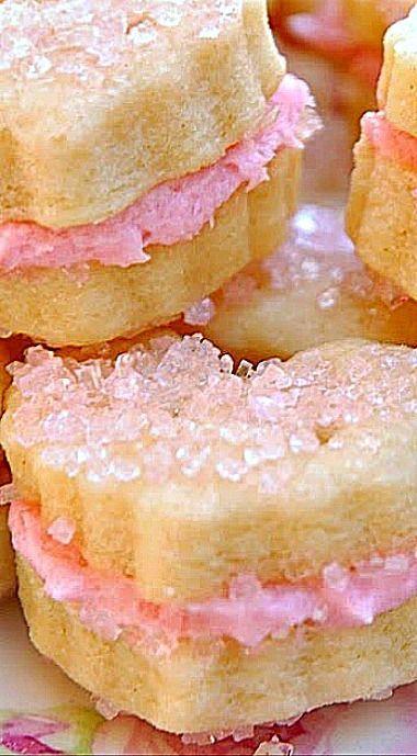 Sparkling Raspberry Cream Wafers ❊