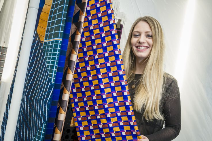 Emma Miller shows off her designs in London.