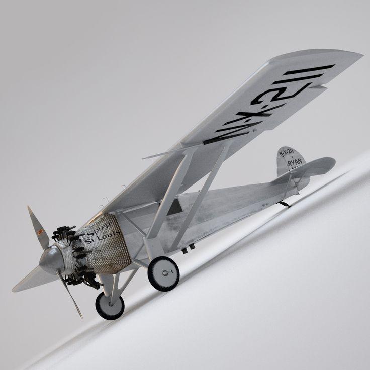 spirit saint st louis 3d model