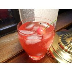 This is a twist on the regular vodka sour, I add a shot of cherry grenadine to make it special!