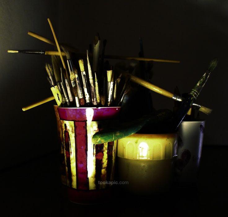 Workshop, topic of the week- painting accessories. Day 1 by BiesKa on tookapic