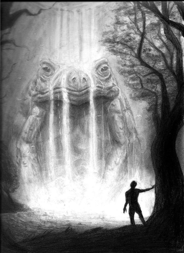 HP Lovecraft. Anfibios. Dioses del primigenio. Demonios. Resultado: insomnio!