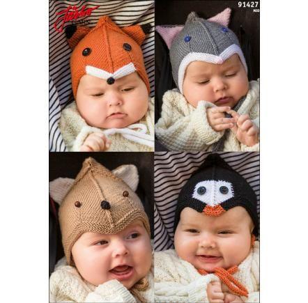 Babymössor - räv, katt, björn och kanin