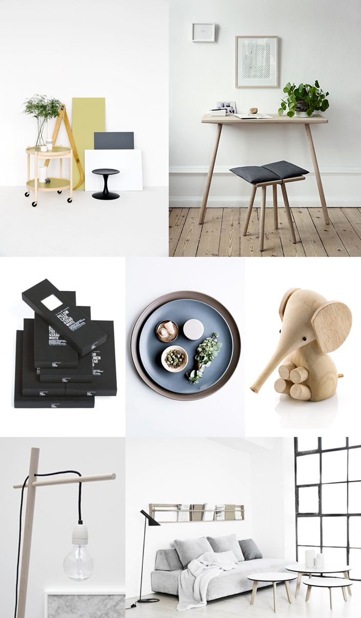 Tray table by Brdr Kruger — Stool and table | Georg collection by Skagerak — Linen by The Organic Company — Ceramic plates and bowls by Broste Copenhagen — Baby elephant by Lucie Kaas — Lampe by Gunhil Buskov Romme from Nye Streger — Tables and magazine rack by Foxy potato