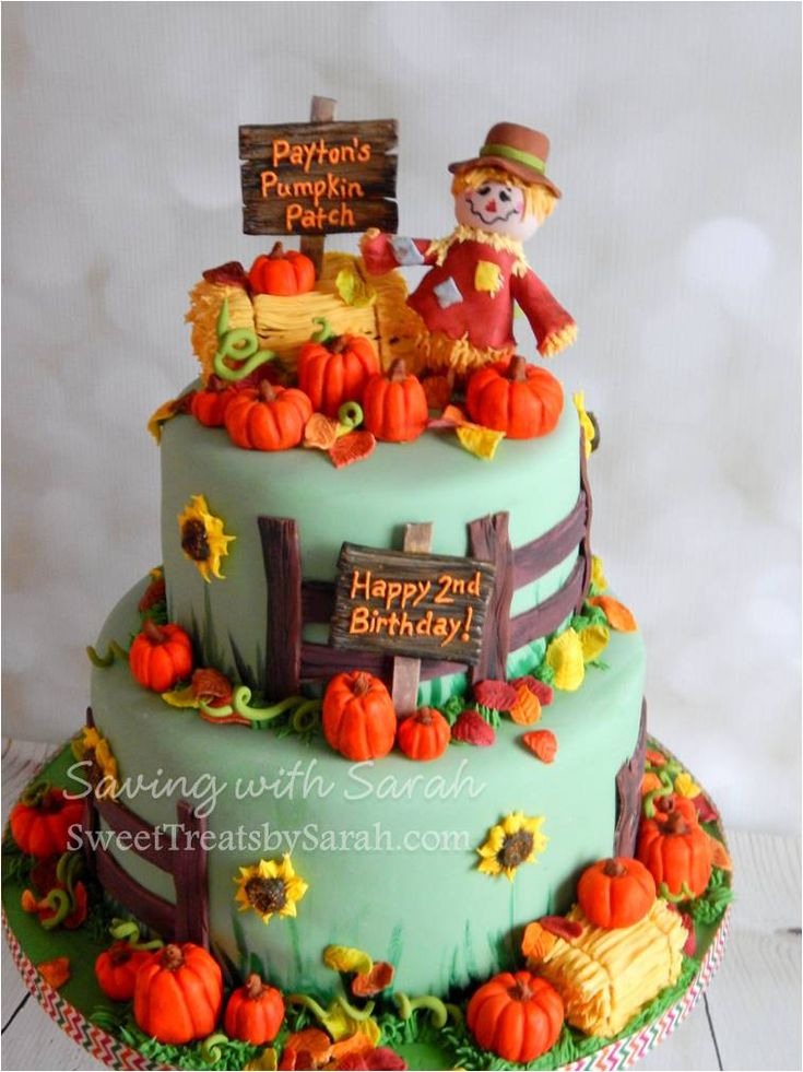 Pumpkin Patch Birthday Cake