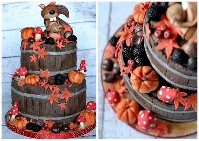 Autumnal squirrel cake