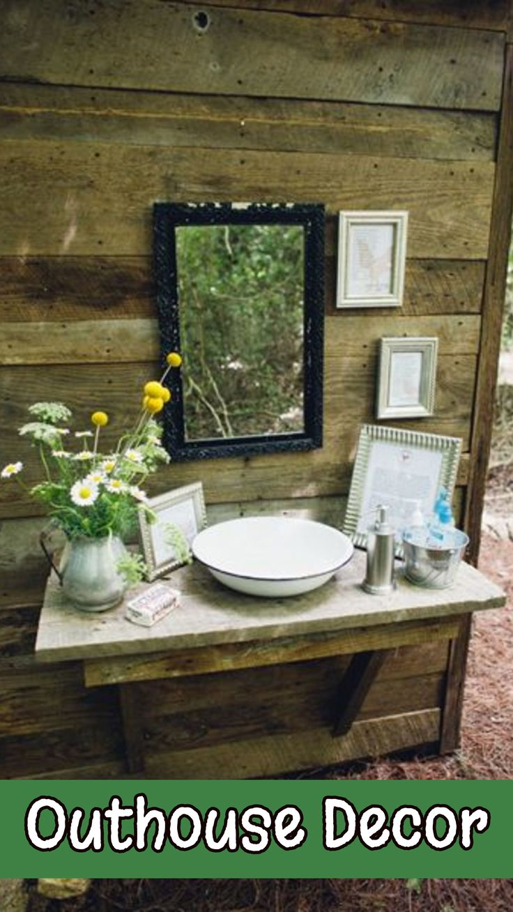 Great Country Outhouse Bathroom Decorating Ideas