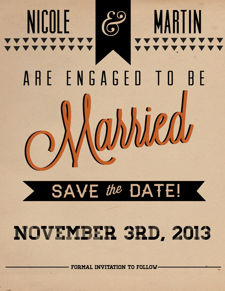 21 best Save the date templates images on Pinterest Clothing - save the date template