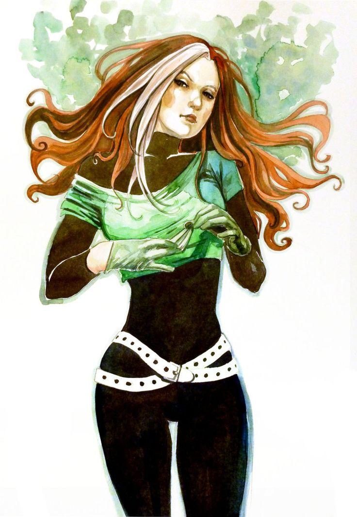 rogue xmen | Fashion and Action: Rogue Gallery - X-Men Fan Art By Hans, Shumate ...