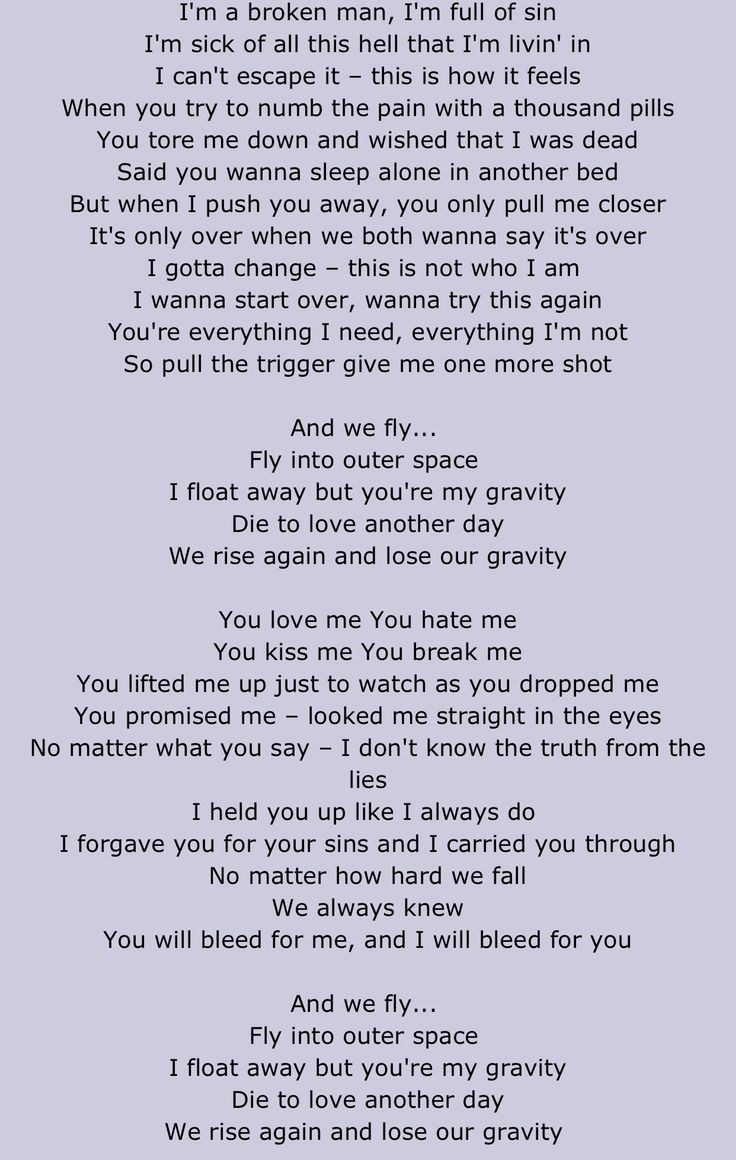 These Lyrics Relate To Me Gravity By PAPA Roach When You Feel The Numbing Sensation Of Music Soothing Ur Soul