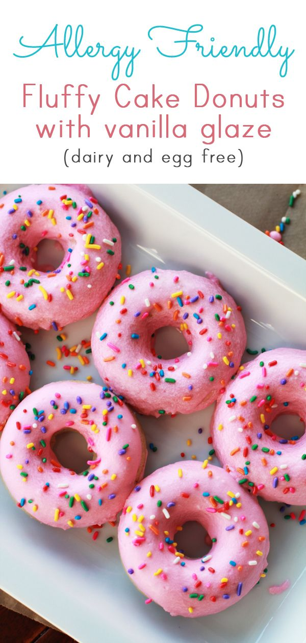 Fluffy Cake Donuts (Egg Free, Dairy Free)