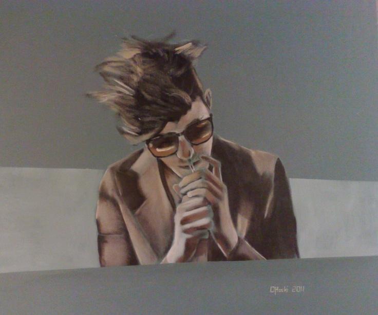 """""""Drag""""  24"""" X 24""""  Acrylic On Canvas  Christopher O'Hoski"""