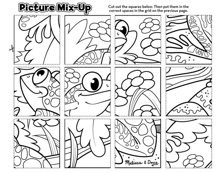 free printable picture mix up frog puzzle printable printable puzzles for kidsfree
