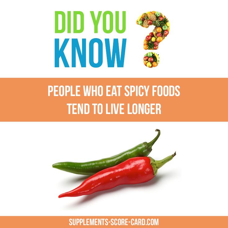 People who eat spicy food tend to live longer