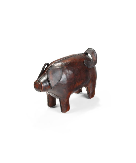 Mini Leather Pig Footstool In 2019 Leather Stool