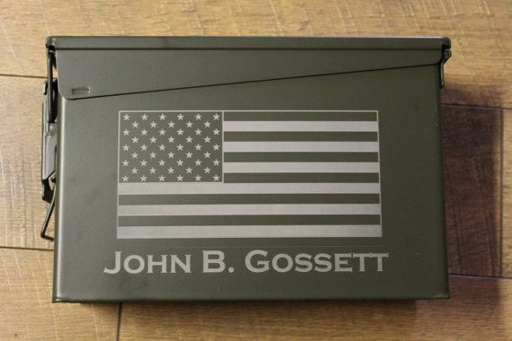 Personalized Fathers Day Ammo Box - groomsmen best man wedding bridal party gift - engraved, outdoors, hunting gift