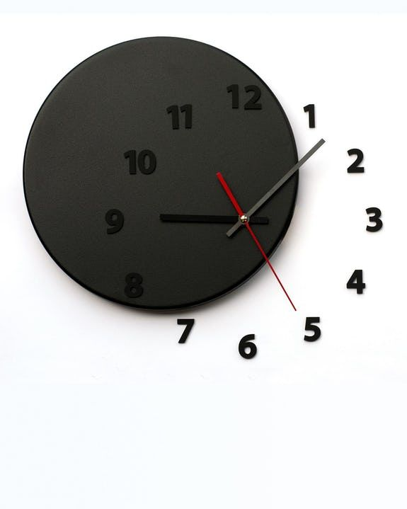 Shop Out Of Time Black Wall Clock On Crowdyhouse With Images Black Wall Clock Clock Black Walls