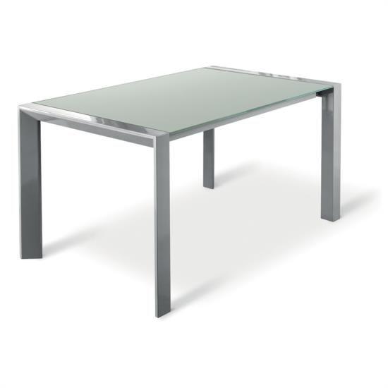 Tavolo in metallo e vetro allungabile fino a oltre 2 metri