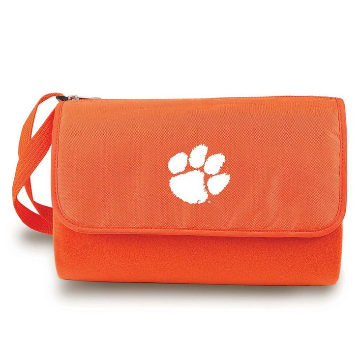 Picnic Time Clemson Tigers Blanket Tote, Orange