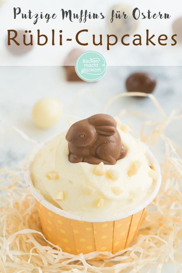 Leckere Rübli-Muffins mit Frischkäse-Topping. Die Karottenkuchen-Cupcakes sind …   – Ostern Backrezepte