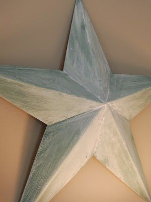 how to paint a Metal Barn Star with dimension