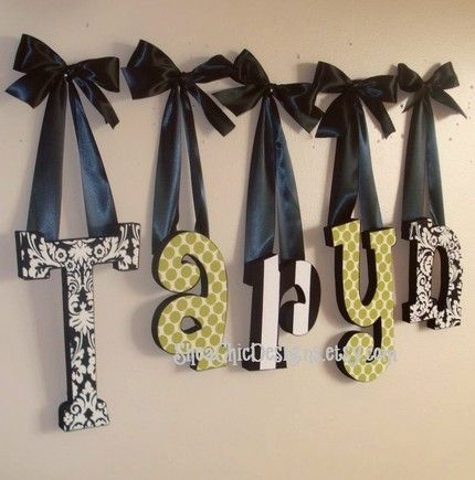 17 best ideas about decorated wooden letters on pinterest. Black Bedroom Furniture Sets. Home Design Ideas
