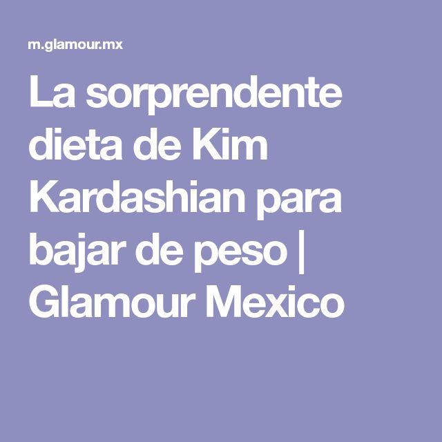 La sorprendente dieta de Kim Kardashian para bajar de peso | Glamour Mexico