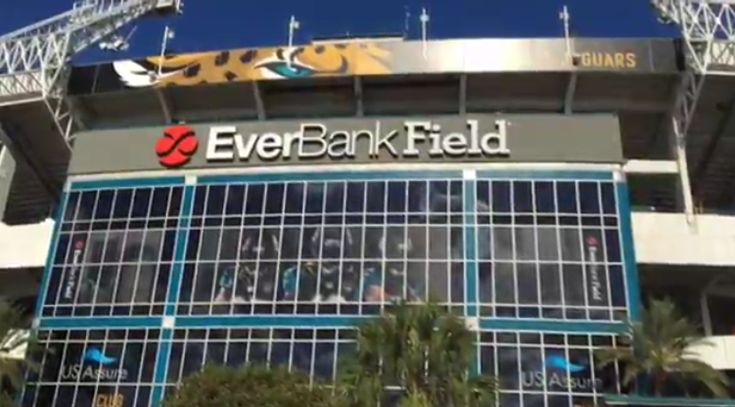 Metal Detectors Coming to EverBank's Field  There are a lot of people there, the wand-type metal detector waste too much time. So they will use the walk-through metal detectors.