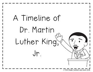 Blogpost and free resource for Martin Luther King, Jr. and Timelines