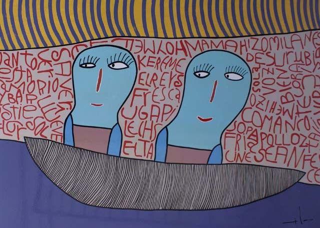 Milo Lockett, Argentinian painter ( 1967-)