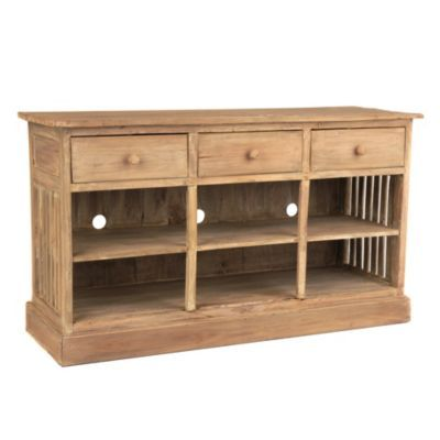 Driftwood Media Console | KirklandsFor across from couch
