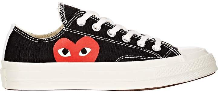 CONVERSE CT ALL STAR HIGH COMME DES GARCONS CDG SIZE 7 MEN 9 WM PLAY RED HEART