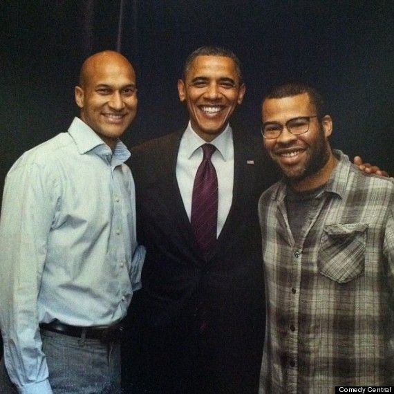This is President Obama with comedy duo Key and Peele. They've done countless edgy impersonations of him, which he told them he loves. Obama has also turned out to have some skilled comedy chops of his own during annual White House Correspondents Dinners. Not everyone will agree, but to me, the ability to laugh at yourself, and have a good sense of humour, is a valuable leadership quality.