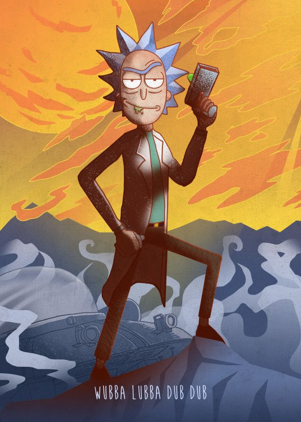 Rick And Morty Character Poses Rick Sanchez Displate Artwork By Artist Retina Creative Part Rick And Morty Characters Rick And Morty Poster Rick And Morty