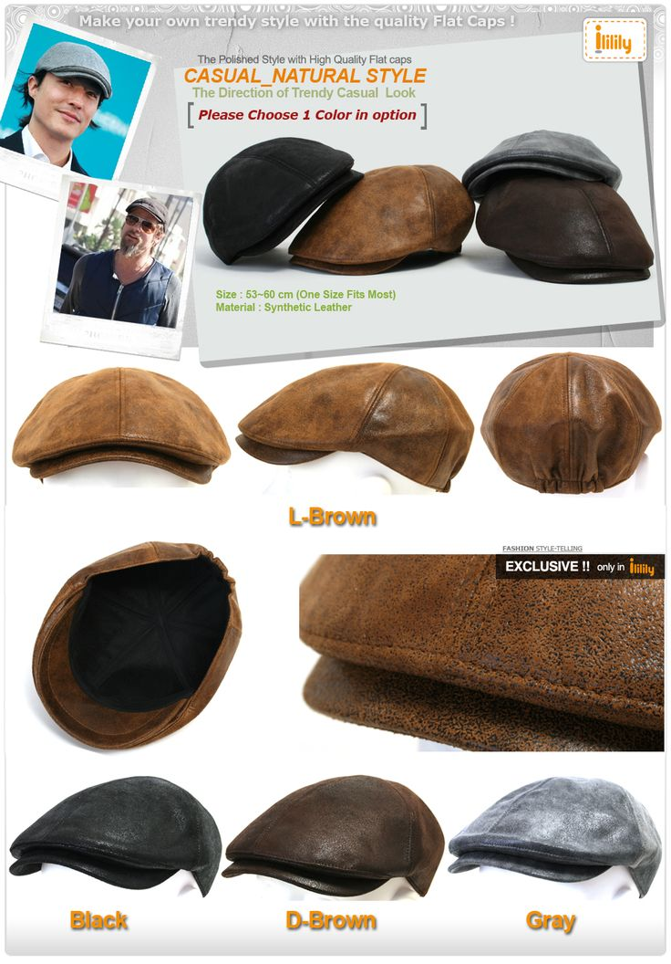 ililily New Mens Flat Cap Vintage Cabbie Hat Gatsby Ivy Caps Irish Hunting Hats Newsboy with Stretch fit (flatcap-001)