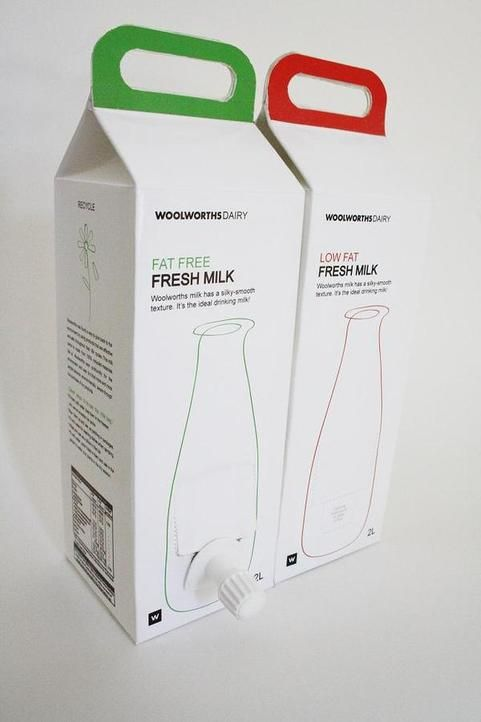 WOOLWORTHS Packaging 2l MIlk Carton . Goldpack 2010 by Ivana Raguz, via Behance