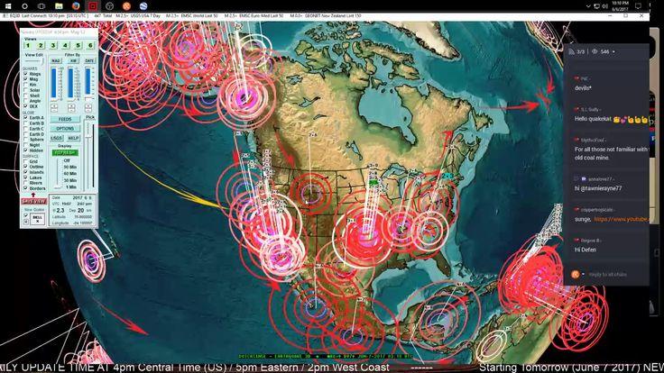 6/06/2017 -- Seismic pressure spreading -- West coast USA earthquake watch